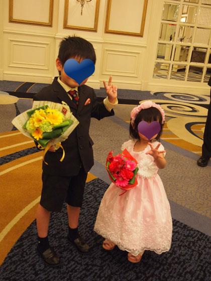 子供達のドレスアップ